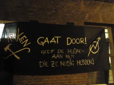 2014_01_18_spandoek_Kraken_gaat_door_Van_Effenstraat_2_Amsterdam